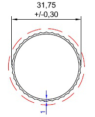 TUBO RED. ESTRIADO 1 1/4 X 1,0MM - NAT - KG - NH
